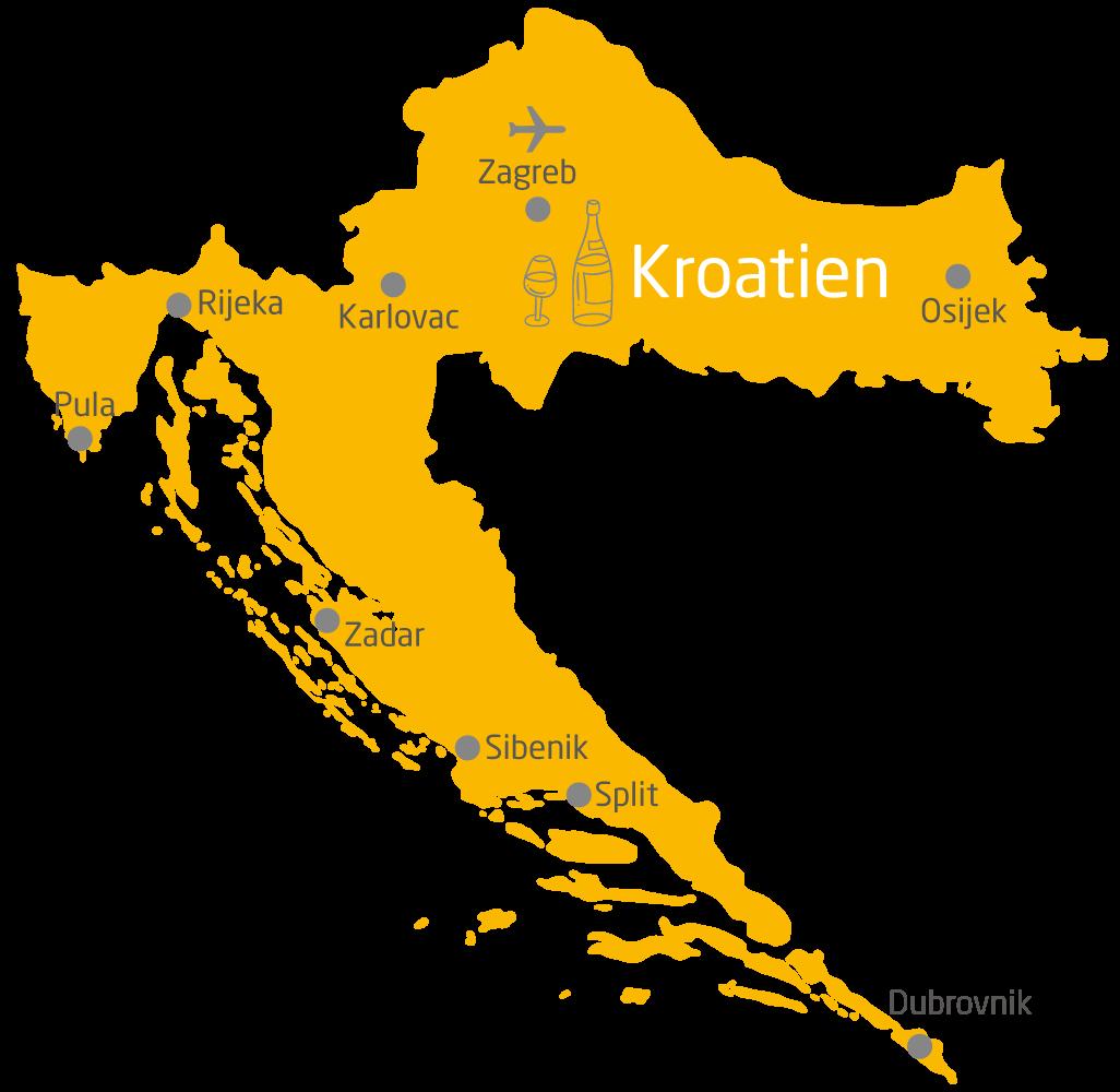 Karte Kroatien Pula.Individuelle Rundreisen Kroatien